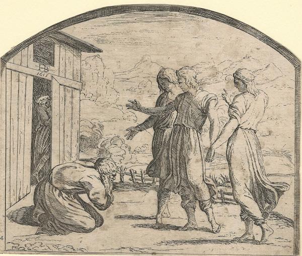 Orazio BORGIANI (Firenze, 1577 – 1616) – TRE ANGELI APPAIONO AD ABRAMO (1577) – BORGIANI Orazio