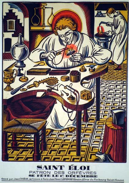 Jean André CHIEZE (Francia, 1898 – 1975) – SAINT ELOI PATRON DES ORFEVRES