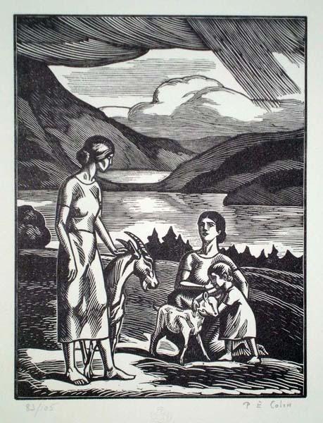 Paul-Emile COLIN (Francia, 1877 – 1949) – AU BORD DES CACS
