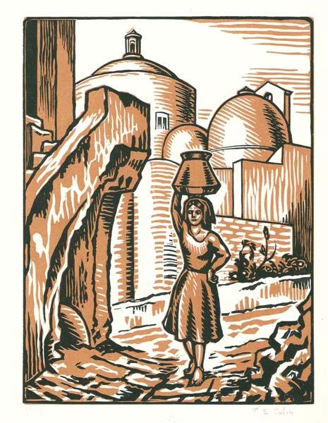 Paul-Emile COLIN (Francia, 1877 – 1949) – AUX RUELLES DE PROCIDA
