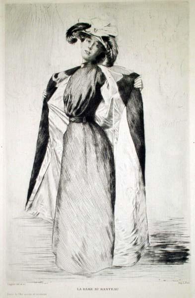 André Charles COPPIER (Francia, 1867 – 1948) – LA DAME AU MANTEAU
