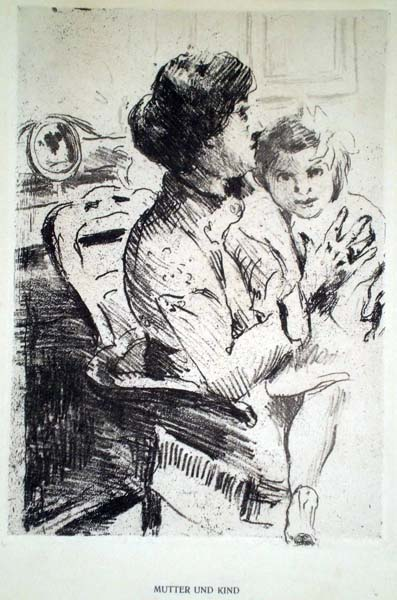Lovis CORINTH (Germania, 1858 – 1925) – MUTTER UND KIND (1911)