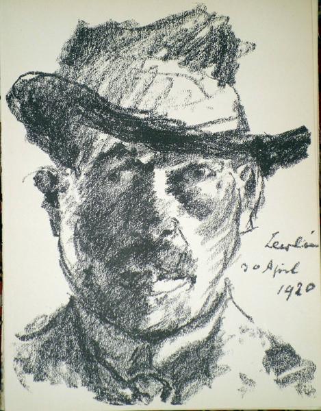 Lovis CORINTH (Germania, 1858 – 1925) – SELBSTBILDNIS
