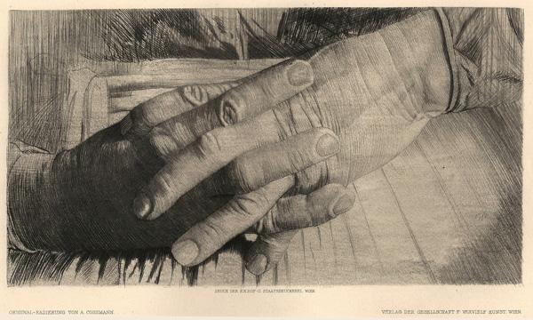 Alfred COSSMANN (Austria, 1870 – ?) – HANDESTUDIE
