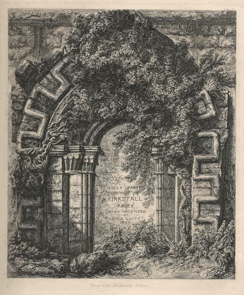 George CUITT (Gran Bretagna, 1779 – 1854) – DOORWAY, KIRKSTALL ABBEY