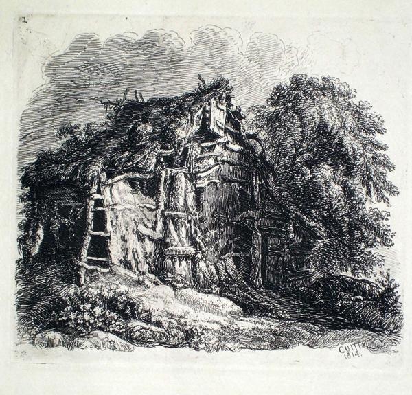 George CUITT (Gran Bretagna, 1779 – 1854) – CAPANNA (1814)