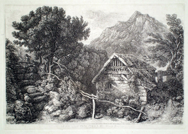 George CUITT (Gran Bretagna, 1779 – 1854) – MILL NEAR DOLGELLE. NORTH WATER