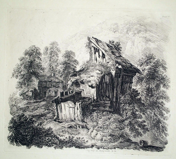 George CUITT (Gran Bretagna, 1779 – 1854) – PIG-STY AT HOLYWELL. NORTH WATER (1811)
