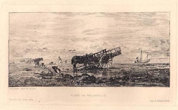 Charles-François DAUBIGNY (Francia, 1817 – 1878) – PLAGE DE VILLERVILLE (1855)