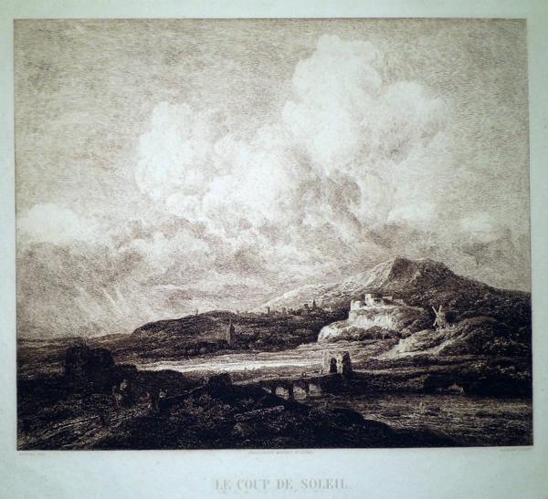 Charles-François DAUBIGNY (Francia, 1817 – 1878) – LE COUP DE SOLEIL da Ruysdael (1860)