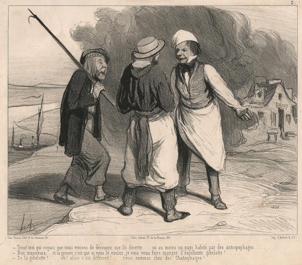 Honoré DAUMIER (Francia, 1808 – 1879) – TIENS! MOI QUI CROYAIS QUE… (1843)