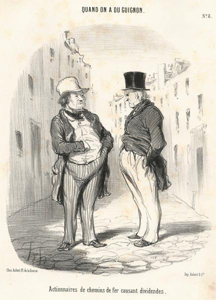 Honoré DAUMIER (Francia, 1808 – 1879) – ACTIONNAIRES DE CHEMIN DE FER…
