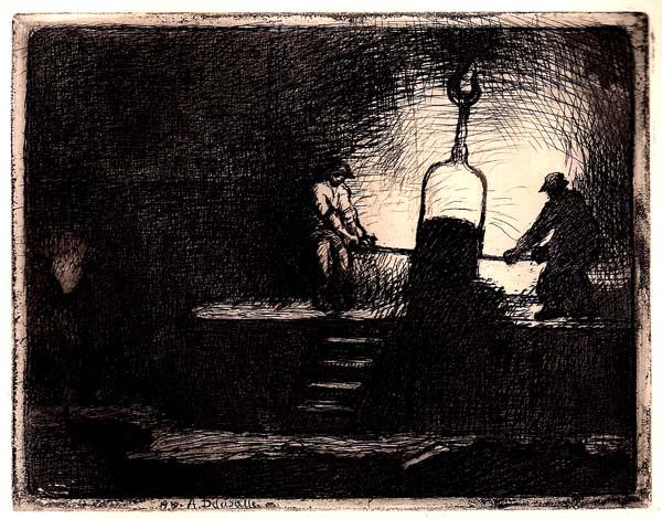 Angele DELASALLE (Francia, 1867 – dopo il 1938) – COIN DE FONDERIE (1910)