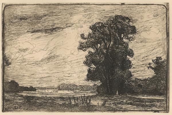 Angele DELASALLE (Francia, 1867 – dopo il 1938) – PAESAGGIO