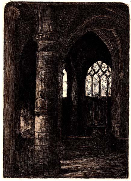 Angele DELASALLE (Francia, 1867 – dopo il 1938) – L'ABSIDE DE St GERMAIN L'AUXERROIS