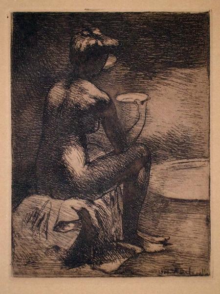 Angele DELASALLE (Francia, 1867 – dopo il 1938) – ETUDE DE NU (1909)