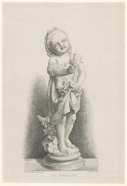 Pietro DELLA VEDOVA (Rima Valsesia, 1831 – 1899) – UN FIORELLINO