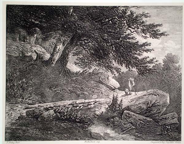 Francois DIDAY (Svizzera, 1802 – 1877) – IL PONTE DI LEGNO