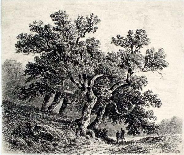 Francois DIDAY (Svizzera, 1802 – 1877) – PAESAGGIO