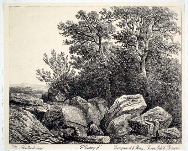 Francois DIDAY (Svizzera, 1802 – 1877) – PESCATORE