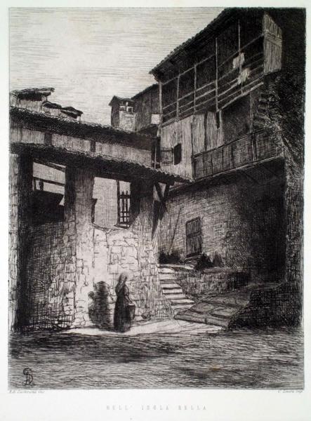 Alfonso DI SARTIRANA (Torino, 1831 – 1903) – NELL'ISOLA BELLA