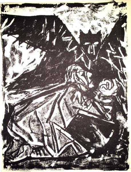 Otto DIX (Germania, 1891 – 1969) – GESÙ AL GETSEMANI (1960)