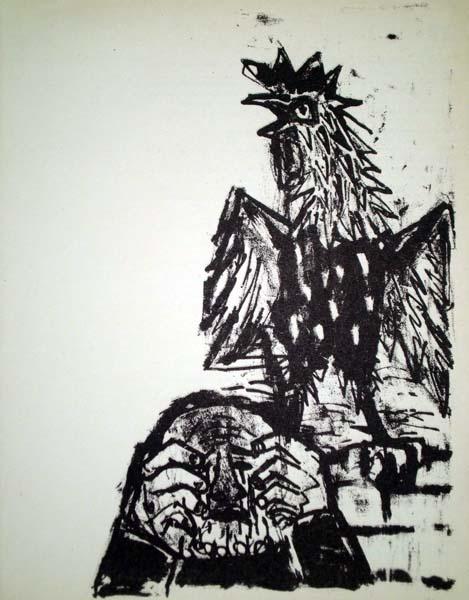 Otto DIX (Germania, 1891 – 1969) – LA NEGAZIONE DI SAN PIETRO (1960) (1891) – DIX Otto
