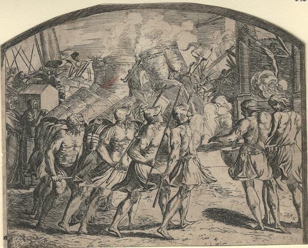 Orazio BORGIANI (Firenze, 1577 – 1616) – LE MURA DI GERICO