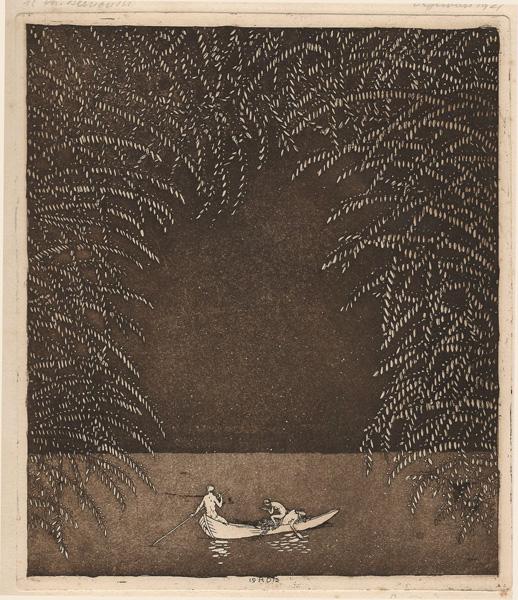 Rudolf DUERRWANG (Svizzera, 1883 – 1936) – STILLE FAHRT (1912)