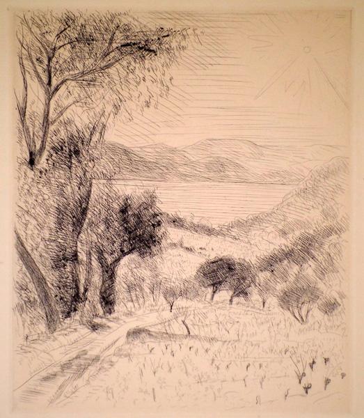 André DUNOYER DE SEGONZAC (Francia, 1884 – 1974) – PAESAGGIO