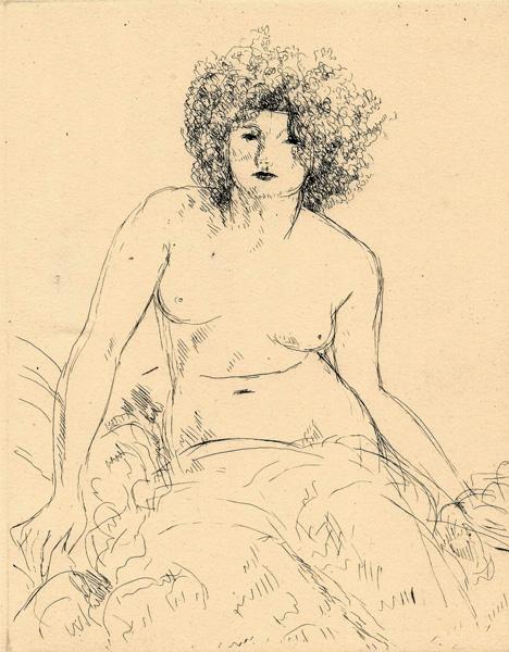 André DUNOYER DE SEGONZAC (Francia, 1884 – 1974) – DONNA