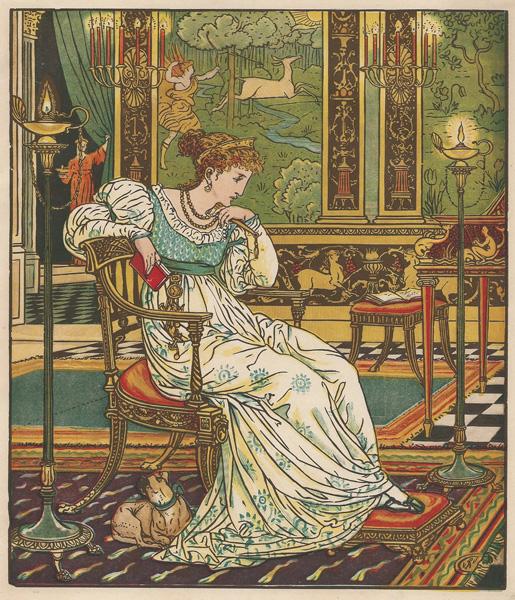 Edmund EVANS (Gran Bretagna, 1826 – 1905) – THOUGHT