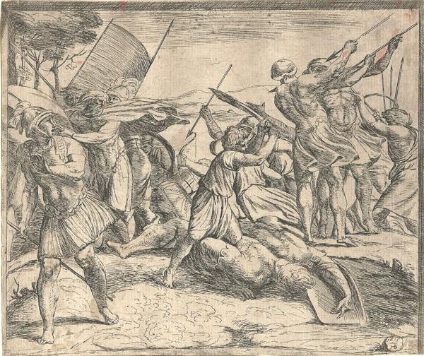 Orazio BORGIANI (Firenze, 1577 – 1616) – DAVIDE E GOLIA