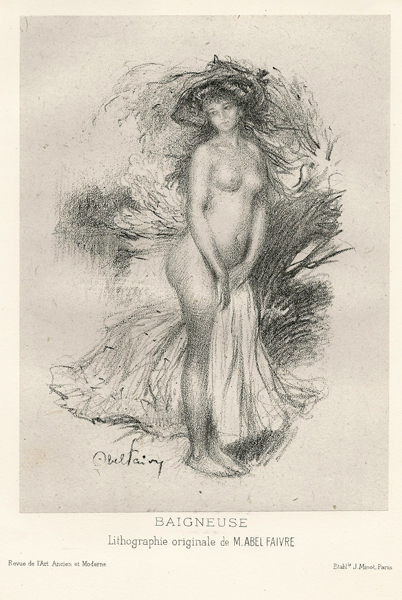 Jules Abel FAIVRE (Francia, 1867 – 1945) – BAIGNEUSE