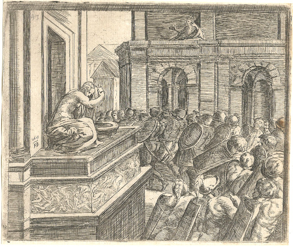 Orazio BORGIANI (Firenze, 1577 – 1616) – DAVIDE SCORGE BETSABEA