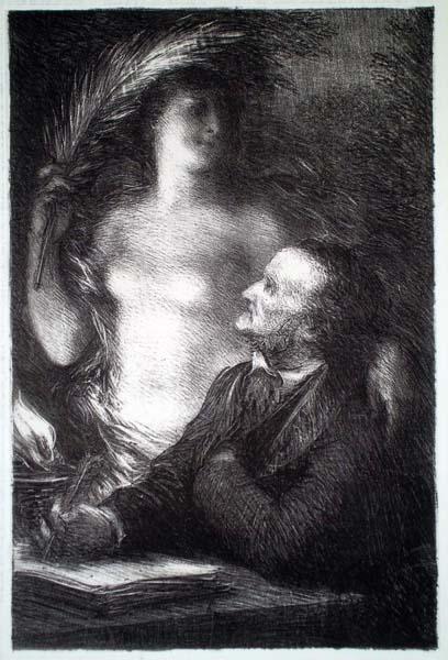 Henri FANTIN LATOUR (Francia, 1836 – 1904) – LA MUSE