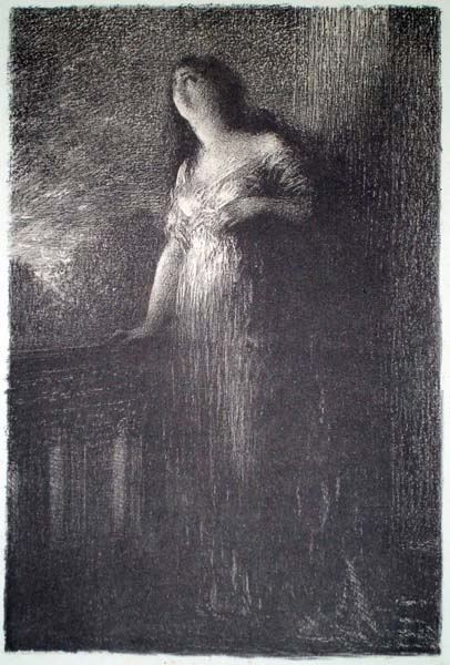 Henri FANTIN LATOUR (Francia, 1836 – 1904) – ROMEO ET JULIETTE: CONFIDENCE À LA NUIT