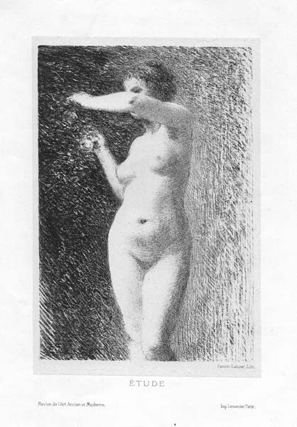 Henri FANTIN LATOUR (Francia, 1836 – 1904) – ETUDE POUR EVE