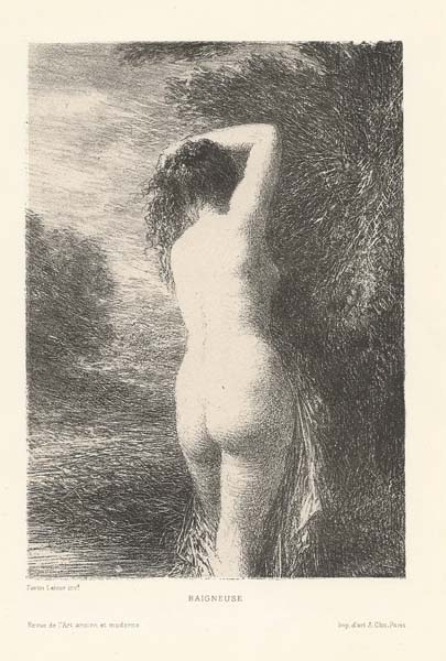 Henri FANTIN LATOUR (Francia, 1836 – 1904) – BAIGNEUSE DEBOUT (1899)