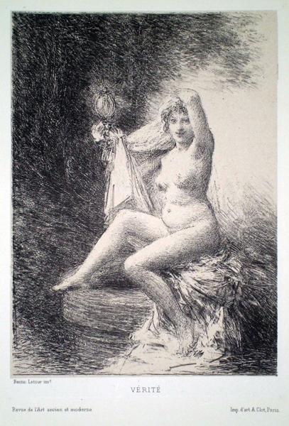Henri FANTIN LATOUR (Francia, 1836 – 1904) – VERITE