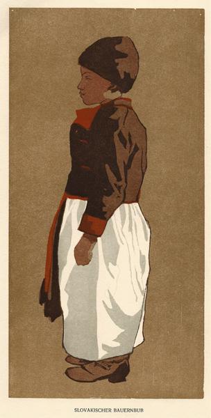 Leonhard FANTO (Austria, 1874 – 1958) – SLOVAKISCHER BAUERNBUB