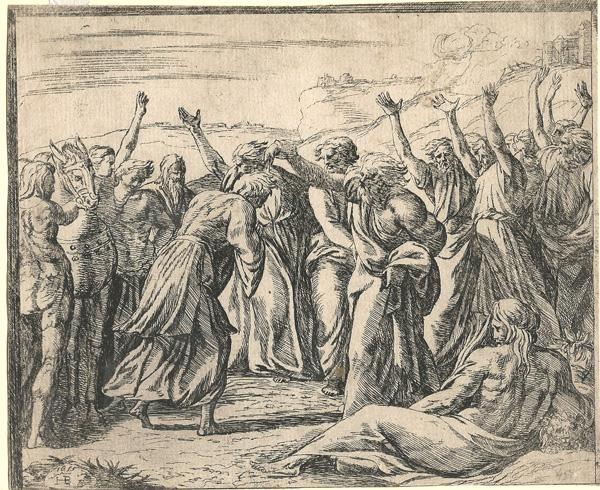 Orazio BORGIANI (Firenze, 1577 – 1616) – L'UNZIONE DI RE SALOMONE