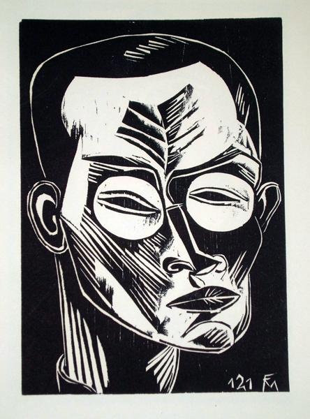 Conrad FELIXMULLER (Germania, 1897 – 1977) – SELBSTBILDNIS