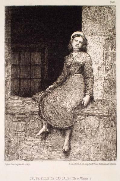 François Nicolas Augustin FEYEN-PERRIN (Francia, 1826 – 1888) – JEUNE FILLE DE CANCALE