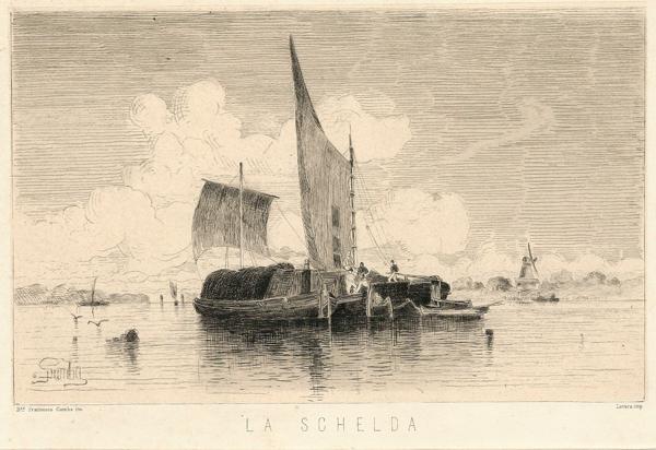 Francesco GAMBA (Torino, 1818 – 1887) – LA SCHELDA