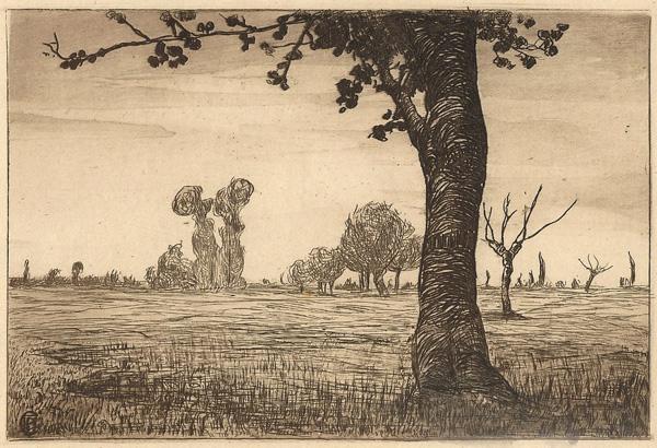 Pietro Antonio GARIAZZO (Torino, 1879 – 1964) – PAESAGGIO