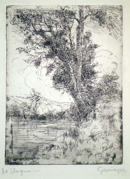 Pietro Antonio GARIAZZO (Torino, 1879 – 1964) – LO STAGNO (1948)