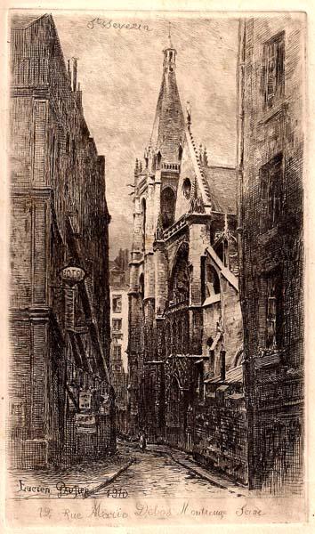 Lucien GAUTIER (Francia, 1850 – 1925) – St SEVERIN (1910)