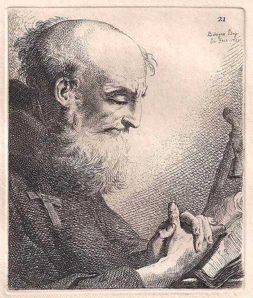 Benigno BOSSI (Arcisate, 1727 – 1792) – MONACO IN PREGHIERA (1755)