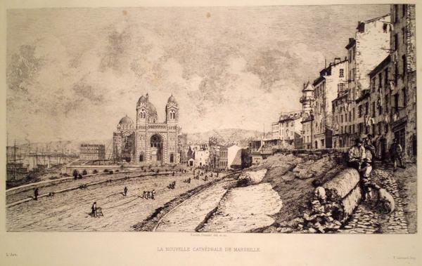 Lucien GAUTIER (Francia, 1850 – 1925) – LA NOUVELLE CATHEDRALE DE MARSEILLE